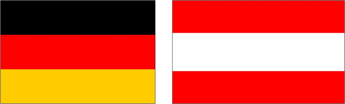 Germany and Austrian flag